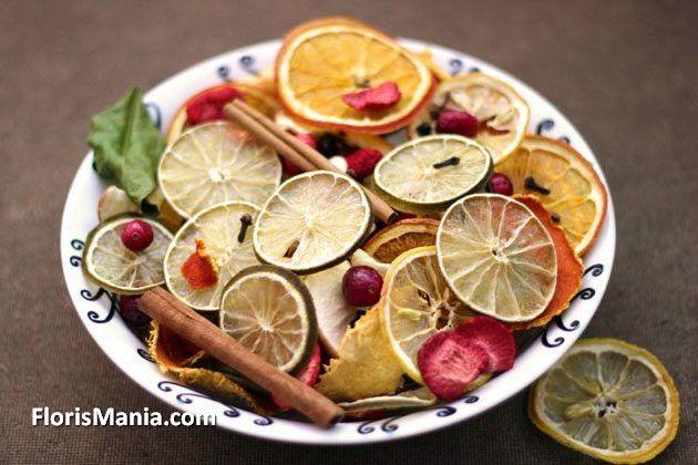 Как засушить дольку лимона для декора